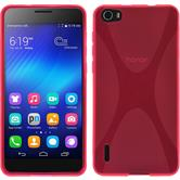 Silicone Case for Huawei Honor 6 X-Style hot pink
