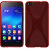 Silicone Case for Huawei Honor 6 X-Style red