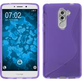 Silicone Case Honor 6x S-Style purple + protective foils