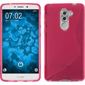 Silicone Case Honor 6x S-Style hot pink + protective foils