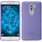 Silicone Case Honor 6x transparent purple + protective foils