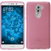 Silicone Case Honor 6x transparent pink + protective foils