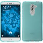 Silicone Case Honor 6x transparent turquoise + protective foils