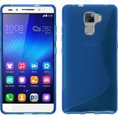 Silikon Hülle Honor 7 S-Style blau + 2 Schutzfolien
