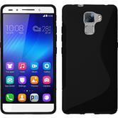 Silikonhülle für Huawei Honor 7 S-Style schwarz