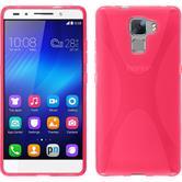 Silikonhülle für Huawei Honor 7 X-Style pink