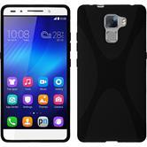 Silikonhülle für Huawei Honor 7 X-Style schwarz