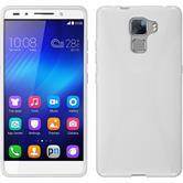 Silikonhülle für Huawei Honor 7 X-Style weiß