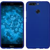 Silikon Hülle Honor 8 Pro matt blau + 2 Schutzfolien
