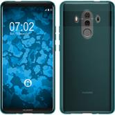 Silikon Hülle Mate 10 Pro transparent türkis Case
