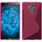 Silikon Hülle Mate 8 S-Style pink + 2 Schutzfolien
