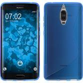 Silikon Hülle Mate 9 Pro S-Style blau + 2 Schutzfolien