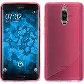 Silikon Hülle Mate 9 Pro S-Style pink + 2 Schutzfolien