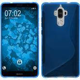Silikon Hülle Mate 9 S-Style blau