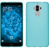 Silicone Case Mate 9 transparent turquoise