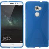 Silikon Hülle Mate S X-Style blau + 2 Schutzfolien