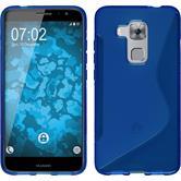 Silikon Hülle Nova Plus S-Style blau + 2 Schutzfolien