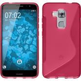 Silikon Hülle Nova Plus S-Style pink + 2 Schutzfolien