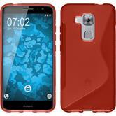 Silikon Hülle Nova Plus S-Style rot + 2 Schutzfolien