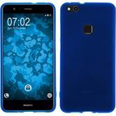 Silikon Hülle P10 Lite matt blau + 2 Schutzfolien