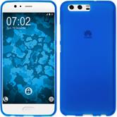 Silikon Hülle P10 matt blau + 2 Schutzfolien