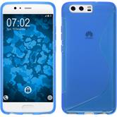 Silikon Hülle P10 S-Style blau + flexible Folie