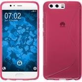 Silikon Hülle P10 S-Style pink + 2 Schutzfolien