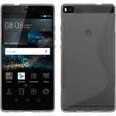 Silikonhülle für Huawei P8 S-Style grau