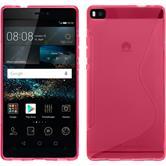 Silikon Hülle P8 S-Style pink