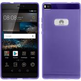Silicone Case for Huawei P8 transparent purple