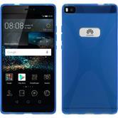 Silikon Hülle P8 X-Style blau
