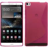 Silikon Hülle P8max S-Style pink + 2 Schutzfolien
