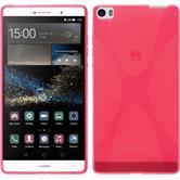Silikon Hülle P8max X-Style pink + 2 Schutzfolien