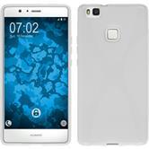Silikon Hülle P9 Lite X-Style weiß + 2 Schutzfolien