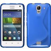 Silikonhülle für Huawei Y360 S-Style blau
