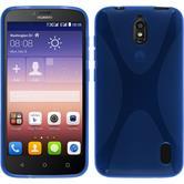 Silikon Hülle Y625 X-Style blau