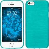 Silicone Case for Apple iPhone 5 / 5s brushed blue