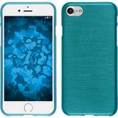 Silicone Case iPhone 8 brushed blue + protective foils