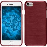 Silicone Case for Apple iPhone 7 brushed red