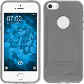 Silicone Case for Apple iPhone SE S-Style logo gray