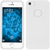Silicone Case for Apple iPhone SE S-Style logo white