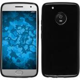 Silicone Case Moto G5 Plus  black + protective foils