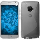 Silicone Case Moto G5 Plus S-Style transparent + protective foils