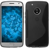 Silicone Case Moto G5 Plus S-Style gray + protective foils