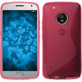 Silicone Case Moto G5 Plus S-Style hot pink + protective foils