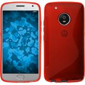 Silicone Case Moto G5 Plus S-Style red + protective foils