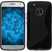 Silicone Case Moto G5 Plus S-Style black + protective foils