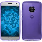 Silicone Case Moto G5 Plus transparent purple + protective foils