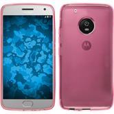 Silicone Case Moto G5 Plus transparent pink + protective foils