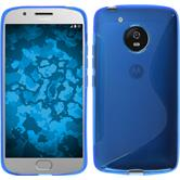 Silikon Hülle Moto G5 S-Style blau + 2 Schutzfolien